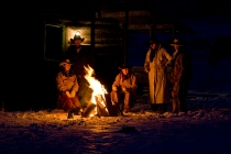 TWE_MG_4764-40.jpg  North America; USA; Wyoming; Shell; Cowboys and Cowgirls around Campfire at Cabin